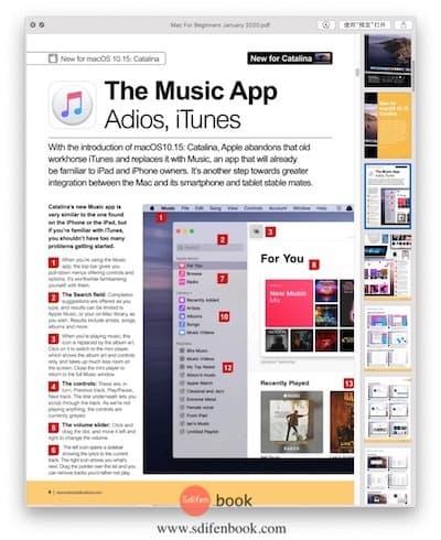 Mac For Beginners 内容界面